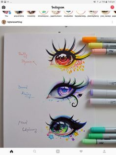 Realistic Drawings Mythical Creatures - Eye Edition by Lighane - Amazing Drawings, Beautiful Drawings, Beautiful Eyes, Art Drawings Sketches, Cute Drawings, Drawing Faces, Anime Eyes Drawing, Cute Eyes Drawing, Copic Drawings