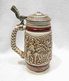 Vintage Avon Beer Stein Mug 1980 Western American Frontier Cowboys
