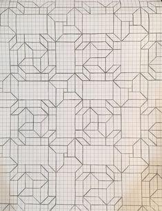 Graph Paper Drawings, Graph Paper Art, Pattern Paper, Blackwork Patterns, Cross Stitch Patterns, Minion Drawing, Pencil Shading, Crafty Craft, Zentangles