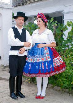 Sárközi Népviselet - Dunántúl Folk Costume, Costumes, Hungarian Embroidery, Folk Dance, Traditional Outfits, Hungary, Embroidery Patterns, Lace Skirt, Harajuku