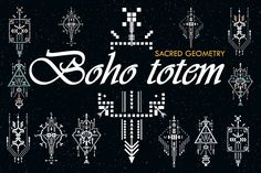 Boho totem. Sacred geometry | Design Bundles