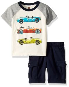 Nannette Boyz Wear 3 Piece Rugged Desert Shirts /& Shorts Set ~ 12 M ~ MSRP $36