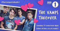 #TheVampsOnRadio1 BBC/Radio 1 🙌 The Vamps, June 2016