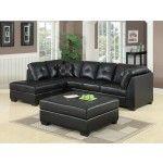 Coaster Furniture - Darie Sectional In Black - 500606