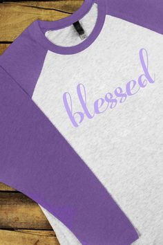 To layer with leggings, order a size up. This raglan tee will be your go-to tee this season! Pair with jeans or leggings for the perfect look! Spring 'Blessed' Tri-Blend Unisex 3/4 Raglan #blessed