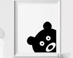 Hase-Wandkunst Kindergarten Animal-print Plakat von ArtFilesVicky