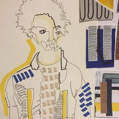 What my hair looks like after all this stress!!! #centralsaintmartins #foundation #portfolio #illustration #graphic #fashion #textile #print #design #colour #black #white #cool #guy #paint #csmfoundation #csm #draw #drawing #sketch #sketchbook