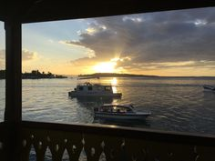 Sunrise from our private porch @ Bocas del Toro Hotel