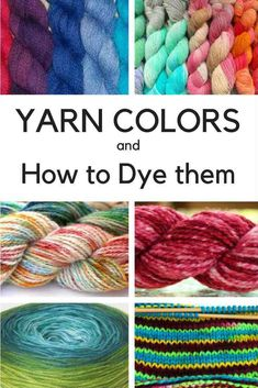 How to Dye Yarn ~ Yarn Color Patterns and How to Dye them with these Yarn Dyeing Techniques. Learn how to dye Gradient Yarn, Semi Solid, Speckled Yarn and Solid Colorways. Crochet Yarn, Knitting Yarn, Yarn Crafts, Fabric Crafts, Diy Crafts, Fibre And Fabric, Spinning Yarn, Hand Spinning, Art Textile