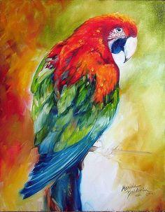 MACAW PARROT II - by Marcia Baldwin