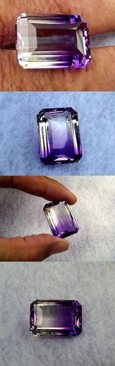 Amethyst 10192: Ametrine Large (Emerald Cut) Stunning Loose Gem 7 Grams - 35 Carats Brazil -> BUY IT NOW ONLY: $181.35 on eBay!