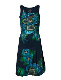 VEST_OSTITU - A stunning display of colour and glitter fashion this beautiful dress from Desigual. *Sleeveless *V-neck and wrap-front style *Self-tie belt in the back *Balloon hem