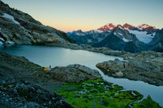 Sunrise on Mount Olympus viewed from upper Queets Basin.  Olympic National Park