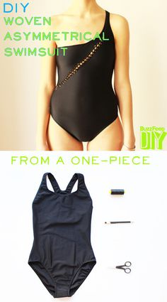 a few DIY swimsuit ideas... I like this one, and I like the crochet flowers too, and am actually planning on buying a black onepiece this summer to do the flower thing with (it'll look so retro, right?)