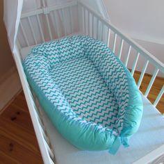 Hnízdečko pro miminko  CHEVRON MENTOL