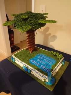 Home Tree Cake for my daughter's housewarming.