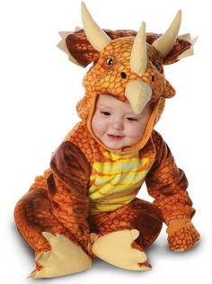Our Infant triceratops outfit is the perfect Baby Dinosaur Costume. If you are looking for a slightly bigger size you may want to try one of our Toddler Dinosaur Costumes. - Light plush fully screen p Toddler Dinosaur Costume, Toddler Costumes, Adult Costumes, Dinosaur Halloween, Fancy Costumes, Dinosaur Toys, Baby Halloween Costumes For Boys, Halloween Ideas, Halloween 2016