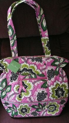 NWT Vera Bradley Laura in Priscilla Pink. Starting at $30 on Tophatter.com!