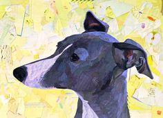 """Matilda"" - collage on canvas"