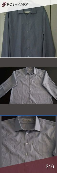 """BEVERLY HILLS POLO CLUB Button Down Shirt Top Imported.  94% Polyester / 6% Cotton.  Machine wash warm.  Warm iron if needed.  Our measures: LENGTH: approximately 31""""/ ARMPIT TO ARMPIT: approximately 23.5"""" / SLEEVE: approximately 25"""".  Dress occasion.  Elegant and beautiful.  Ultra lightweight, soft and comfortable.  High quality.  Authentic merchandise.  Satisfaction guaranteed.  Very good condition.  Without any stains, rips or holes.  Barely used. No signs of wear.  Great price…"""