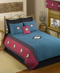 Look what I found on #zulily! Turquoise Desert Quilt Set by Donna Sharp #zulilyfinds