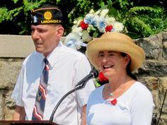 TOM Supervisor Nancy Seligson speaks at the Memorial Day Service