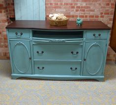 how to turn a dresser into tv stand antique buffet into tv console simple redesign - Painted Tv Consoles