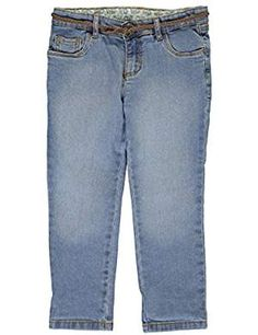 Hey Collection Little Girls Butterfly Stretch Twill Skinny Jeans