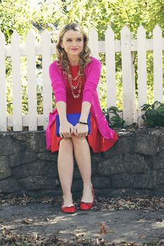 Poor Little It Girl - How To Wear Red and Pink - @poorlilitgirl