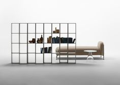 Stockholm designer Chris Martin's Endless shelving system for Swedish brand Massproductions comes as individual units that can be linked together.