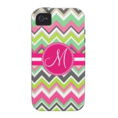 Monogram Aztec Andes Tribal Mountains Chevron iPhone 4 Case-Mate Case #SOLD on #Zazzle