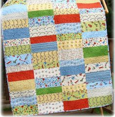 Baby Boy Quilt Ideas | Sewing: Scoot Baby Boy Quilt | Sewing ideas for Chelo
