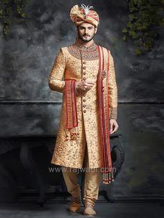 Silk Heavy Sherwani for Groom