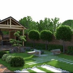 Landscape Design, Garden Design, Outdoor Spaces, Outdoor Decor, Palm Trees, Gardening Tips, Stepping Stones, My House, Backyard