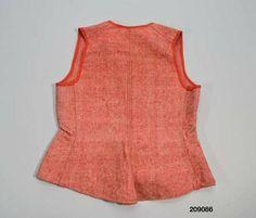 93b4e1599458 Livstycke 1880-1920. Smögen. Livstycke att bära under kläderna, hemvävt och  hemsytt