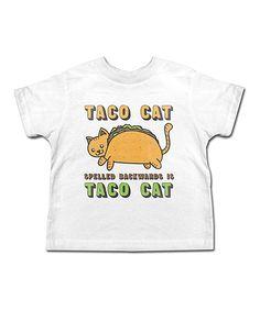 White 'Taco Cat' Tee