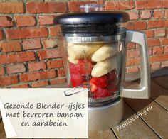 Zelf gezonde blender-ijsjes met bevroren bananen
