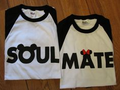 SOULMATE DISNEY MICKEY MOUSE BASEBALL TEES SOLD IN PAIR - Fresh Racks two shirts for $39.99
