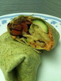 Midwest Vegan: Roasted Vegetable Hummus Wraps