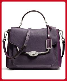 Coach Madison Small Sadie Flap Satchel In Saffiano Leather - Top handle bags (*Amazon Partner-Link)