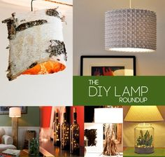 DIY Lamp Roundup - Click image to find more Home Decor Pinterest pins