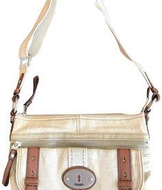 0cb25454e679 Beige Cotton and Leather Cross Body Bag. Tradesy