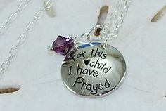 Stamped Mothers Necklace Personalized by ornatetreasures on Etsy, $24.80