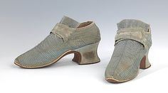 Shoes Date:     1730–59 Culture:     European Medium:     silk Dimensions:     4 x 8 in. (10.2 x 20.3 cm) Credit Line:     Brooklyn Museum Costume Collection at The Metropolitan Museum of Art, Gift of the Brooklyn Museum, 2009; Gift of Herman Delman, 1954