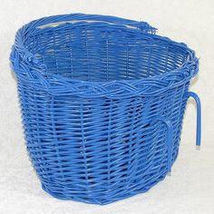 Koszyk rowerowy - przedni, niebieski