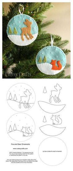 Felt ornaments #feltdolls