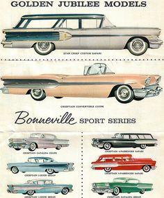 1958 Pontiac Star Chief Custom Safari Station Wagon and Chieftain Convertible