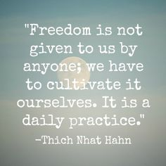 """Cultivating freedom is the major theme of """"How to Wake Up."""" We work on becoming aware of the sources of our unhappiness and dissatisfaction and we work on cultivating their antidotes: kindness, compassion, joy, and equanimity."""