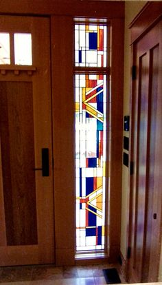 Window made for the President Of Cal. Tech by Tristan's Stained Glass in Durango, co.