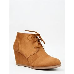 REX Bootie ($29) ❤ liked on Polyvore featuring shoes, boots, ankle booties, tan, oxford ankle boots, oxford boots, tan ankle boots, short boots and lace up oxfords